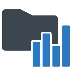 Charts folder icon from business bicolor set vector
