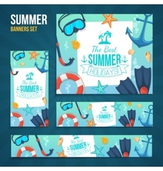 Summer tropic vacation backgrounds design vector
