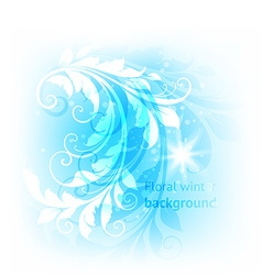 Floral winter background vector