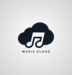 Music song cloud theme vector