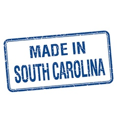 Made in south carolina blue square isolated stamp vector