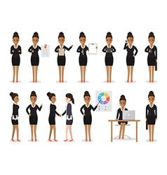 Black businesswoman people characters vector