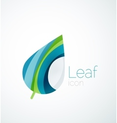 Abstract leaf company logo nature logotype idea vector