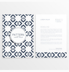 abstract leaflet template with pattern shape vector image