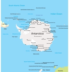 Antarctica map vector