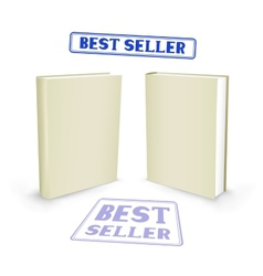 best seller book vector image