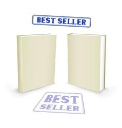 Best seller book vector