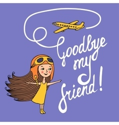 Children and planes vector image