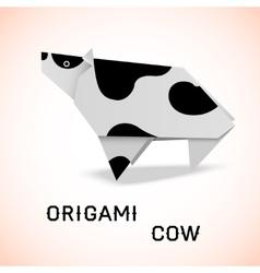 Cow origami vector image vector image