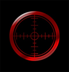 crosshairs vector image