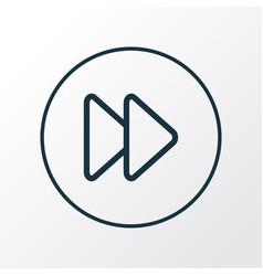 Fast forward icon line symbol premium quality vector