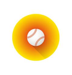 Flat color baseball ball vector
