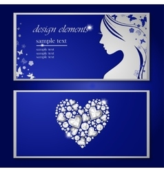 Flyer with a beautiful woman vector image vector image