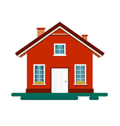 House icon building isolated on white background vector
