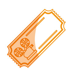 Ilhouette tickets to cinema movie entertainment vector
