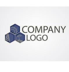 industrial logo vector image vector image