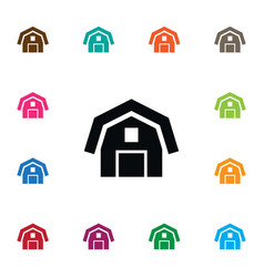 Isolated barn icon hangar element can be vector