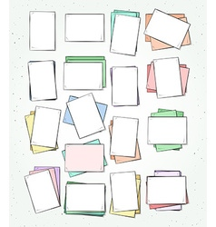 Isolated paper sheet handmade Page in sketch style vector image vector image