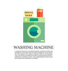 Laundry service advertising poster logo with vector image vector image