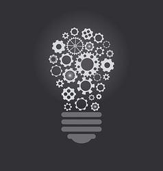 Lightbulb with cogwheels vector