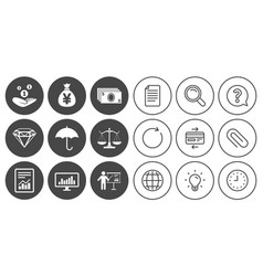 Money cash and finance icons savings sign vector