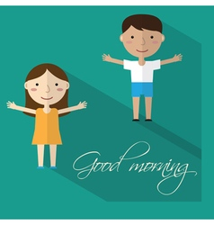 Morning gymnastics vector image