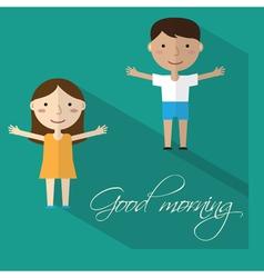 Morning gymnastics vector