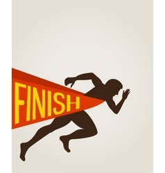 Number one winner at a finish line vector