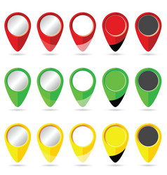 pointer set colored vector image