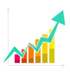 Rising arrow graph vector