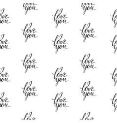 seamless wallpaper romantic valenine s day i love vector image