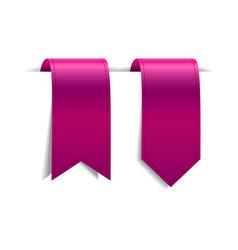 Set of crimson decorative ribbons vector
