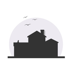 Stylish house silhouette vector image