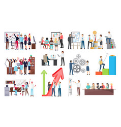 success at work and growth vector image vector image