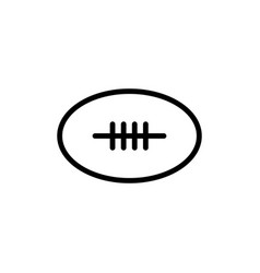 thin line rugby ball icon vector image