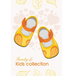 Trendy kids shoes vector