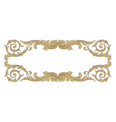 vintage baroque ornament element vector image vector image