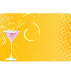Martini glass on halftone background vector