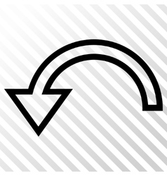 Rotate left icon vector