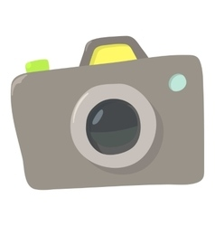 Photocamera icon cartoon style vector