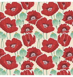 Beautiful painting spring floral seamless pattern vector