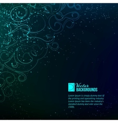 Abstract blue lights vector