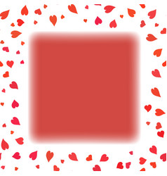 Red heart frame vector