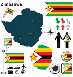 Zimbabwe map vector