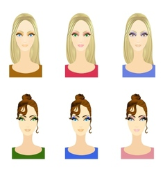 Set of make up patterns vector