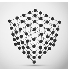 Wireframe polygonal element vector