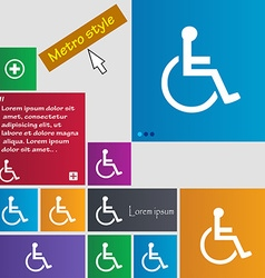 Disabled icon sign buttons modern interface vector