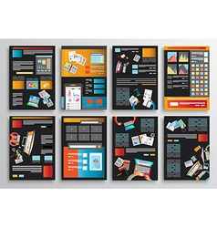Set of infographics flyer and brochure designs vector