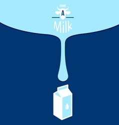 Milk background design vector