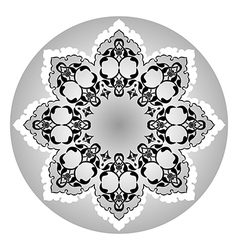 Antique ottoman turkish design eleven vector